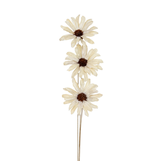 Daisy Flower (3 stem) White