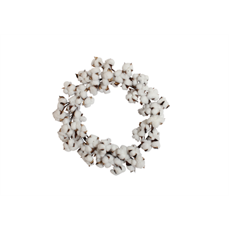 Cotton Wreath - Medium (40cm)-Artificial