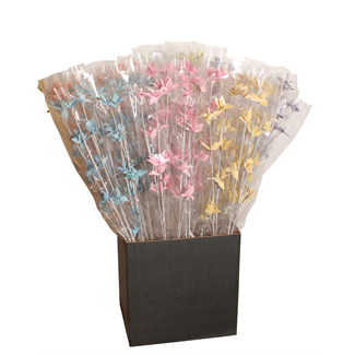 Displayer - Mini Deco Rose (Assorted White Washed) 6 Colours - 50 Pack
