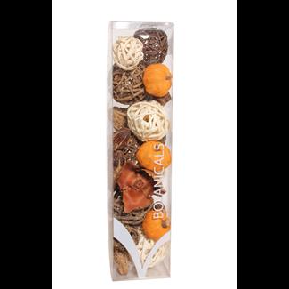 Jumbo Fall Boxed Bowl Filler - Orange and Natural