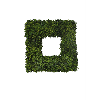 Wreath - Square Boxwood - 22""