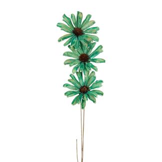 Daisy Flower (3 stem) Aqua