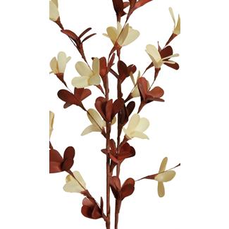 Blossom Branches (2 stem) Mahogany/White