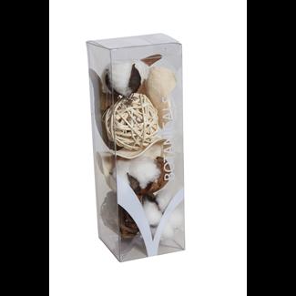 "Cotton Assorted Mini Boxed Bowl Filler (9"")- Artificial Cotton"