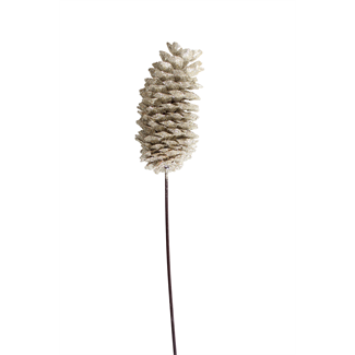 Sugar Pine Cone - Champagne Glitter