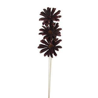 Daisy Flower (3 stem) Deep Purple
