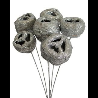 Talami (5 stem) Silver glitter
