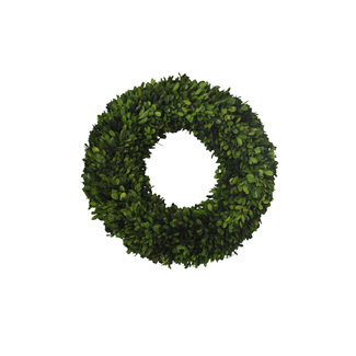 Wreath - boxwood - 46 x 46 x 9 cm
