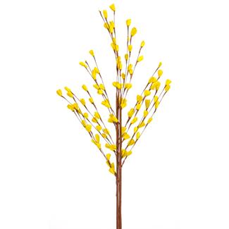 Balsa Garden Rose Bud (3 stem) Yellow