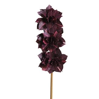 Dahlia Flower (3 stem) Deep Purple