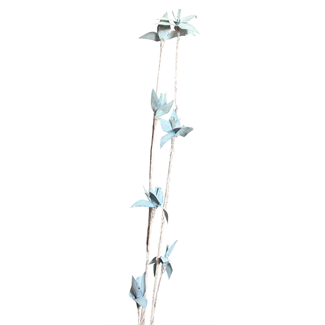 Mini Deco Rose (2 stem) White Washed Aqua