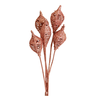 Lantern (6 stem) Copper glitter