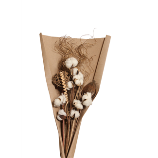 Cotton Bouquet - Gold & Natural
