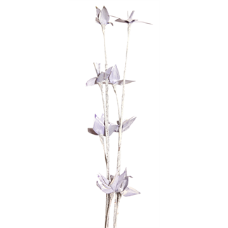 Mini Deco Rose (2 stem) White Washed Purple