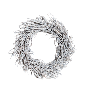 "Root Wreath (24"" with hole) White Wash"