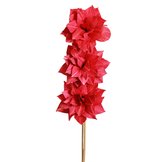 Dahlia Flower (3 stem) Red