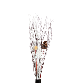 Holiday Urn Kit-Star, Cone, slice, white branch