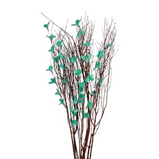 Blooming Blossom Branches - Aqua