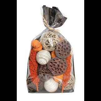 Jumbo Fall Bowl Filler - Orange Pumpkins/Milo