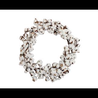 Cotton Wreath - Large  (61cm)- Artificial
