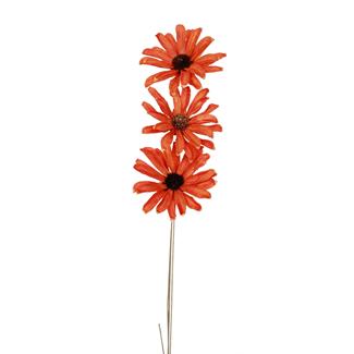 Daisy Flower (3 stem) Orange