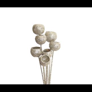 Bell Cups (7 stem) Champagne Glitter