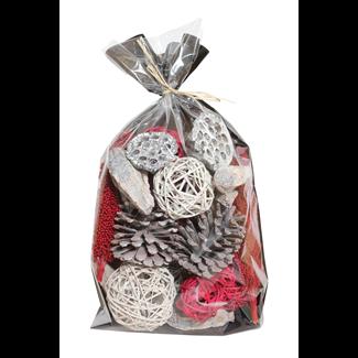 Jumbo Christmas Bowl Filler - Red/White Wash