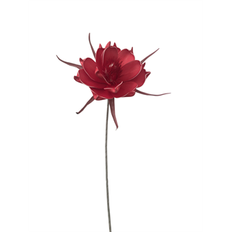 Foam Pandula Flower (24 inch) - Red