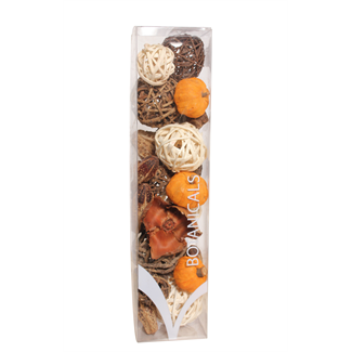 Jumbo Fall Boxed Bowl Filler - Orange and Natural