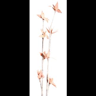 Mini Deco Rose (2 stem) White Washed Orange