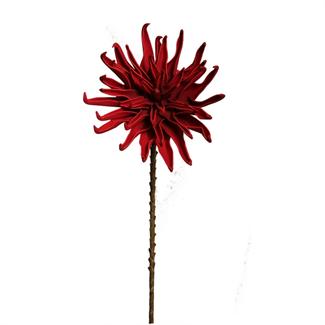 Foam Dahlia Flower (40 inch) - Red