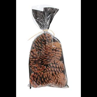 Pine Cones in a bag medium (7-9 pcs) - natural