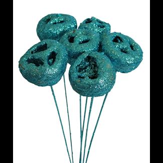 Talami (5 stem) Ice blue glitter