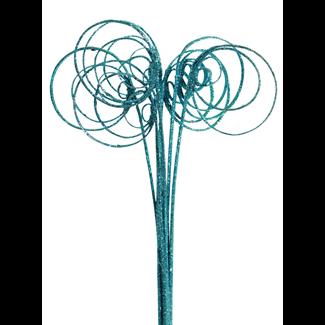 Cane Circles (10 stem) Ice blue glitter