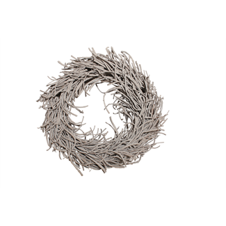 "Root Wreath (24"" with hole) Grey Wash"