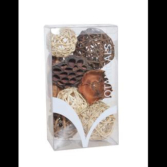 Medium Boxed Bowl Filler - Natural/Mahogany