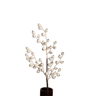 Berry Branch (Large Berry Spray) White