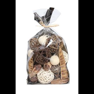 Jumbo Bowl Filler - Natural/Mahogany