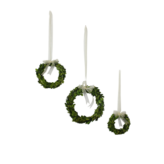 Wreath - Round boxwood with ribbon