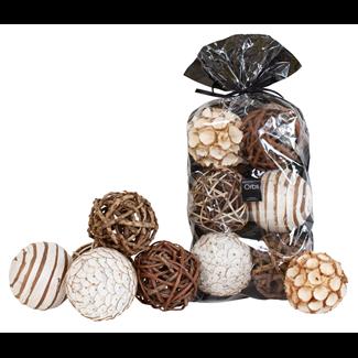 Bowl Filler - Orbs - Natural/Mahogany