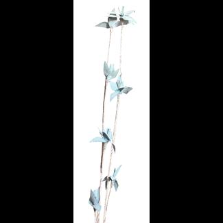 Mini Deco Rose (2 stem) White Washed Aqua