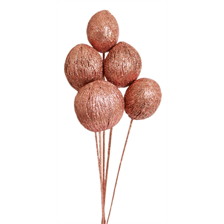 Mintola balls (6 stem) Copper glitter