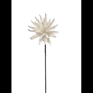 Foam Dahlia Flower (40 inch) - White