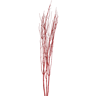 "Twinkly Twigs 36"" (2-3 stem) Red Glitter"