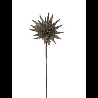Foam Dahlia Flower (40 inch) - Taupe