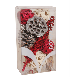 Medium Christmas Boxed Bowl Filler - Red