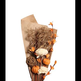 Harvest Bouquet - Mahogany & Orange