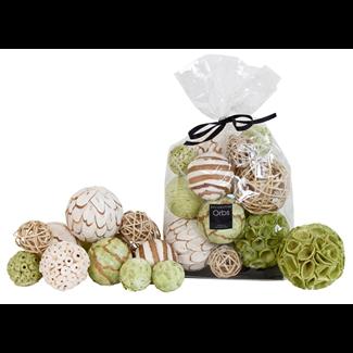 Bowl Filler - Deco Balls - Bleached/Green