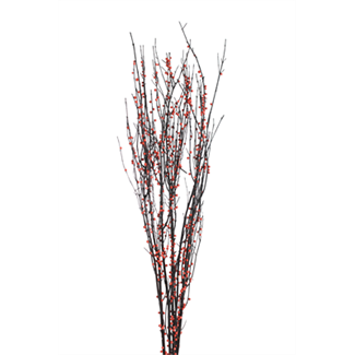"Twigs 36"" (2-3 stem) red berried branches"