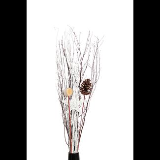 Holiday Urn Kit-Star, Cone, slice, white branch